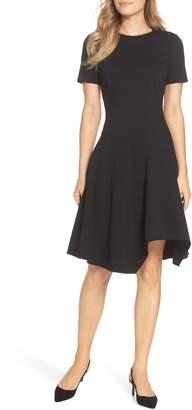Eliza J Drop Waist Fit & Flare Dress