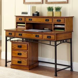 Home Styles Modern Craftsman 3-pc. Executive Desk, Hutch & Mobile File Cart Set