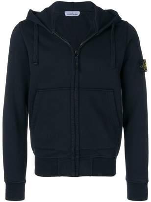 Stone Island garment dyed zip hoodie