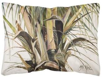 Caroline's Treasures Top Coconut Tree Canvas Fabric Decorative Pillow