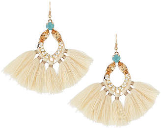 Panacea Open Crystal Fringe Drop Earrings