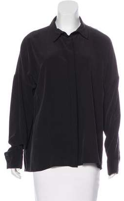 Anine Bing Long Sleeve Button-Up Top