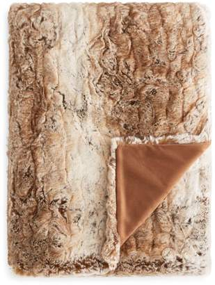 Hudson Park Collection Textured Faux Fur Throw - 100% Exclusive