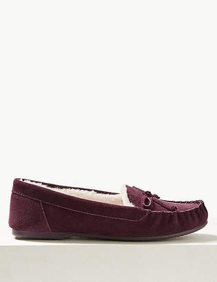 Marks and Spencer Suede Moccasin Slippers