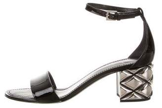 Louis Vuitton Logo Patent Leather Sandals