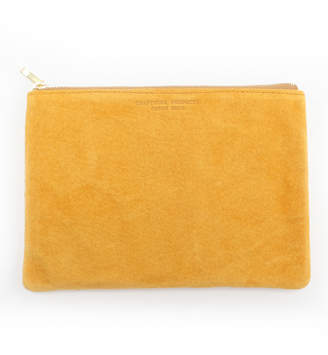 Arenot (アーノット) - アーノット スエード フラットポーチ M イエロー(SUEDE FLAT POUCH M yellow)