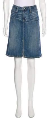 Paper Denim & Cloth Denim Knee-Length Skirt