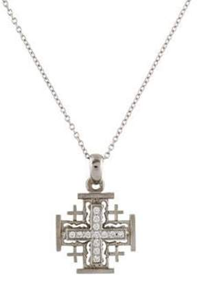 Reiss I. 14K Diamond Cross 'Jerusalem' Pendant Necklace white I. 14K Diamond Cross 'Jerusalem' Pendant Necklace