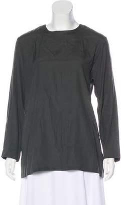 Amina Rubinacci Silk Long Sleeve Top