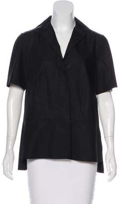 Narciso Rodriguez Short Sleeve Button-Up Top