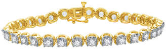 EVER STAR Ever Star 5 CT. T.W. Lab Grown White Diamond 10K Gold Round Tennis Bracelet