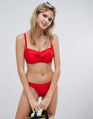 Figleaves fuller bust underwired bandeau in red