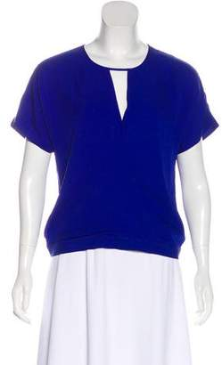 Theory Silk Short Sleeve Blouse
