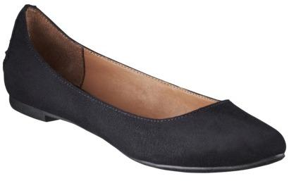 Mossimo Women's Vikki Pointed Toe Ballet Flats - Black