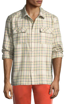 Puma Men's x Big Sean Back-Graphic Check Shirt