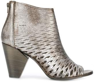 Strategia perforated ankle boots