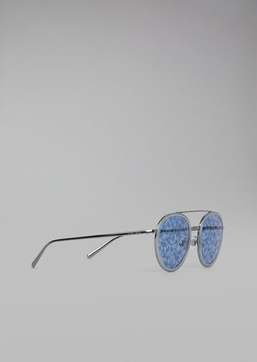 Giorgio Armani Catwalk Sunglasses With Floral Lenses