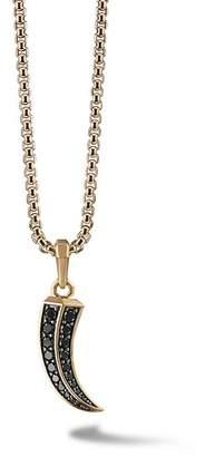 David Yurman Roman Claw Amulet in 18K Gold with Black Diamonds