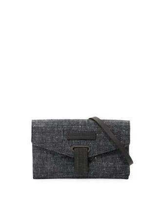 Brunello Cucinelli Denim Mini City Crossbody Bag