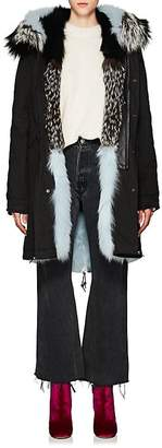 Mr & Mrs Italy Women's Fur-Trimmed & -Lined Cotton Parka