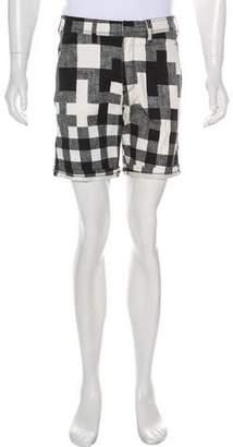 Neil Barrett Woven Flat Front Shorts