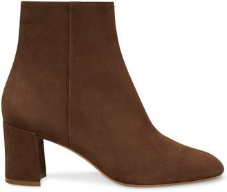 Mansur Gavriel Suede 65MM Ankle Boot - Chocolate