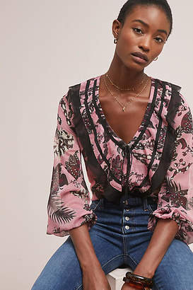 Central Park West Alene Ruffled Blouse