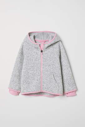 H&M Knit Fleece Jacket - Gray