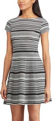 Chaps Women's Striped Fit & Flare Dress