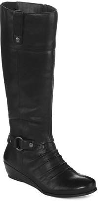 Yuu Shela Wedge Riding Boots - Wide Width, Wide Calf