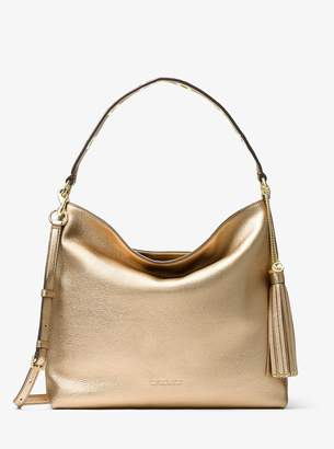 MICHAEL Michael Kors Brooklyn Large Metallic Leather Shoulder Bag