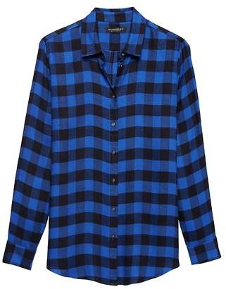 Banana Republic Petite Dillon Classic-Fit Buffalo Plaid Flannel Shirt