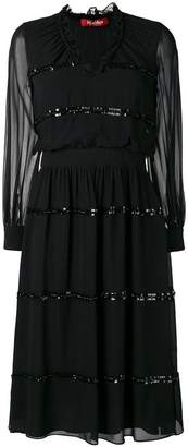 Max Mara sheer construction dress