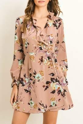 Gilli Floral Faux Wrap-Dress