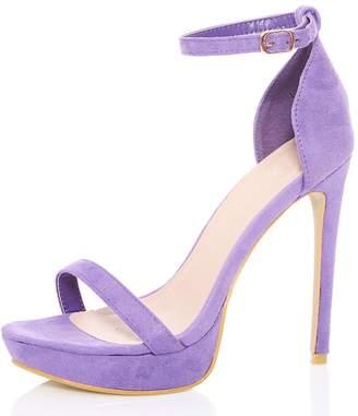 Quiz Lilac Faux Suede Platform Sandals