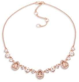 Givenchy Rose-Goldplated & Crystal Array Frontal Necklace