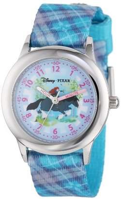 Disney Kids' W000265 Merida Stainless Steel Time Teacher Printed Strap Watch