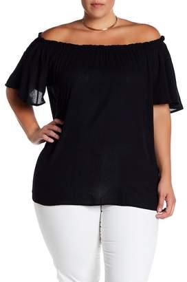 Susina Off-the-Shoulder Woven Blouse (Plus Size)