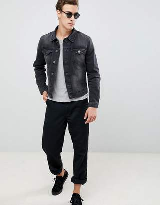 Selected Blue Washed Gray Jacket