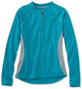L.L. Bean L.L.Bean Women's Comfort Cycling Jersey, Long-Sleeve
