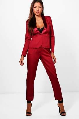 boohoo Lily Tailored Tuxedo Waistband Trousers