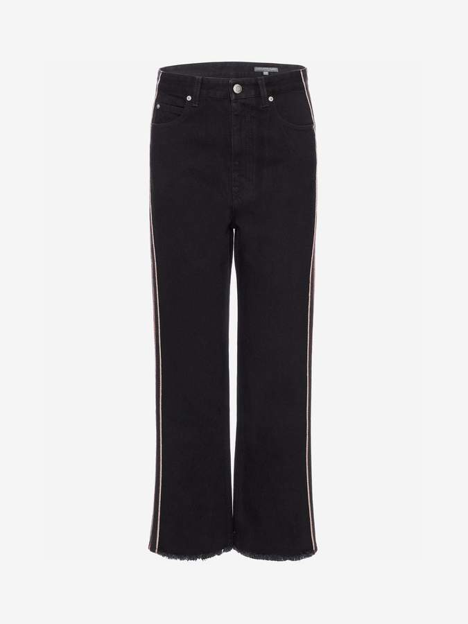 Alexander Mcqueen High Waisted Wide Leg Denim