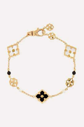 Buccellati Opera 18-karat Gold, Mother-of-pearl And Onyx Bracelet