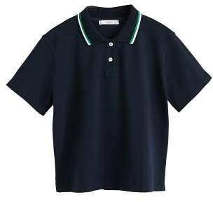MANGO Collar striped polo shirt