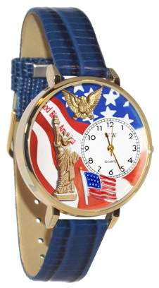 Whimsical Watches July 4th Patriotic Watch in Gold (Large)