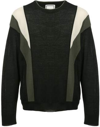 Wooyoungmi panelled sweater