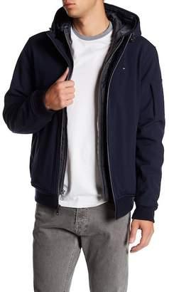Tommy Hilfiger Soft Shell Contrast Bib Hooded Bomber Jacket