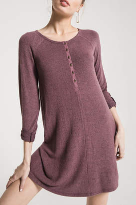 Z Supply Sweater Henley Dress