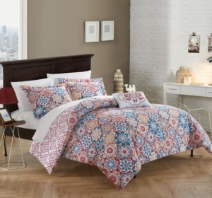 Chic Home Bristol 4 Pc King Duvet Cover Set Bedding