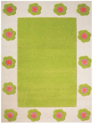 """Camilla And Marc Ivi IVI NB/121rn030pe80153-it Hypoallergenic Fleece Rug with Floral"""""""" 80 x 150 cm Green"""